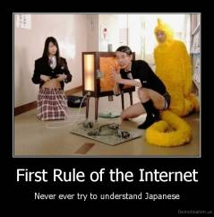First Rule of the Internet - Never ever try to understand Japanese
