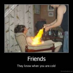 Friends - They know when you are cold