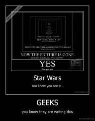 GEEKS - you know they are writing this