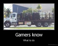 Gamers know - What to do