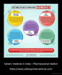 Generic medicine in India – Pharmaceutical medicin - https://www.oddwayinternational.com/