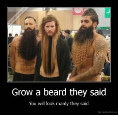 Grow a beard they said - You will look manly they said