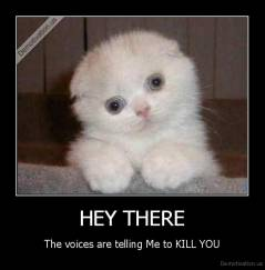 HEY THERE - The voices are telling Me to KILL YOU