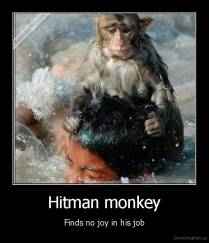 Hitman monkey - Finds no joy in his job