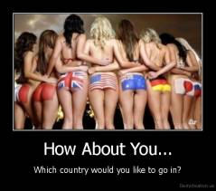 How About You... - Which country would you like to go in?