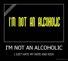 I'M NOT AN ALCOHOLIC - I JUST HATE MY WIFE AND KIDS