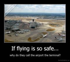 If flying is so safe... -  why do they call the airport the terminal?