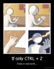 If only CTRL + Z - Exists in real world...
