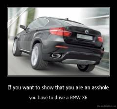 If you want to show that you are an asshole - you have to drive a BMW X6