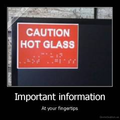 Important information - At your fingertips