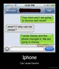 Iphone - Can cause trauma
