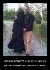 Islamist advantage: When you divorce your wife - and remarry, you can still keep the same photo on your desk