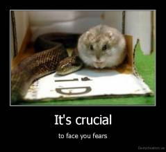 It's crucial - to face you fears