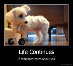 Life Continues - If somebody cares about you