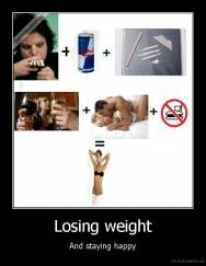 Losing weight - And staying happy