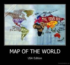 MAP OF THE WORLD - USA Edition