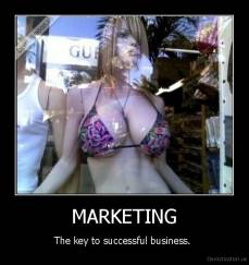 MARKETING - The key to successful business.