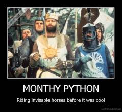 MONTHY PYTHON - Riding invisable horses before it was cool