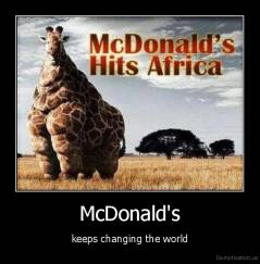 McDonald's - keeps changing the world