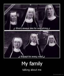 My family - talking about me