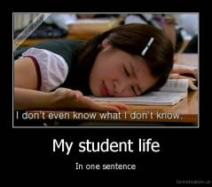 My student life - In one sentence