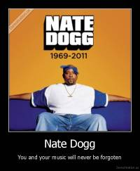 Nate Dogg - You and your music will never be forgoten