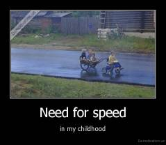 Need for speed - in my childhood