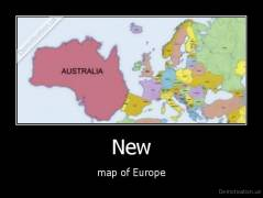 New - map of Europe