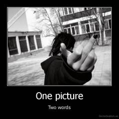 One picture - Two words
