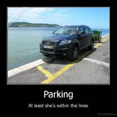Parking - At least she's within the lines