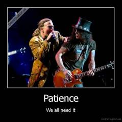 Patience - We all need it