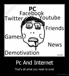 Pc And Internet - That's all what you need to exist