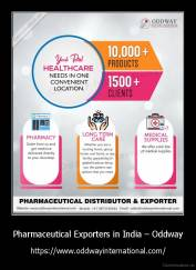 Pharmaceutical Exporters in India – Oddway - https://www.oddwayinternational.com/