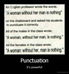 Punctuation - It's powerfull
