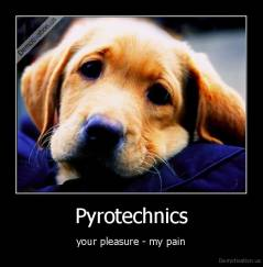 Pyrotechnics - your pleasure - my pain