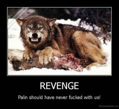 REVENGE - Palin should have never fucked with us!