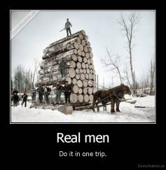Real men - Do it in one trip.