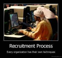 Recruitment Process - Every organization has their own techniques