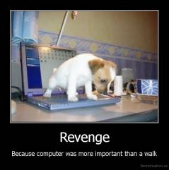 Revenge - Because computer was more important than a walk