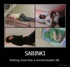 SABINKI - Nothing more than a normal student life.