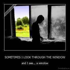 SOMETIMES I LOOK THROUGH THE WINDOW - and I see... a window