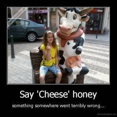 Say 'Cheese' honey - something somewhere went terribly wrong...