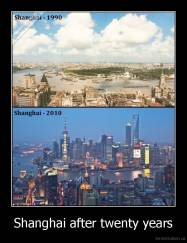 Shanghai after twenty years -