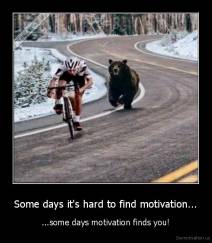 Some days it's hard to find motivation... - ...some days motivation finds you!