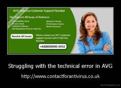 Struggling with the technical error in AVG - http://www.contactforantivirus.co.uk