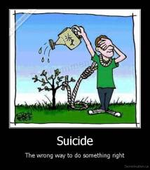 Suicide - The wrong way to do something right