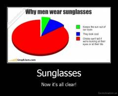 Sunglasses - Now it's all clear!