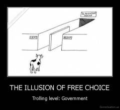THE ILLUSION OF FREE CHOICE - Trolling level: Government