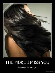 THE MORE I MISS YOU - the more I want you