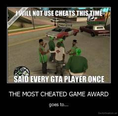THE MOST CHEATED GAME AWARD - goes to...